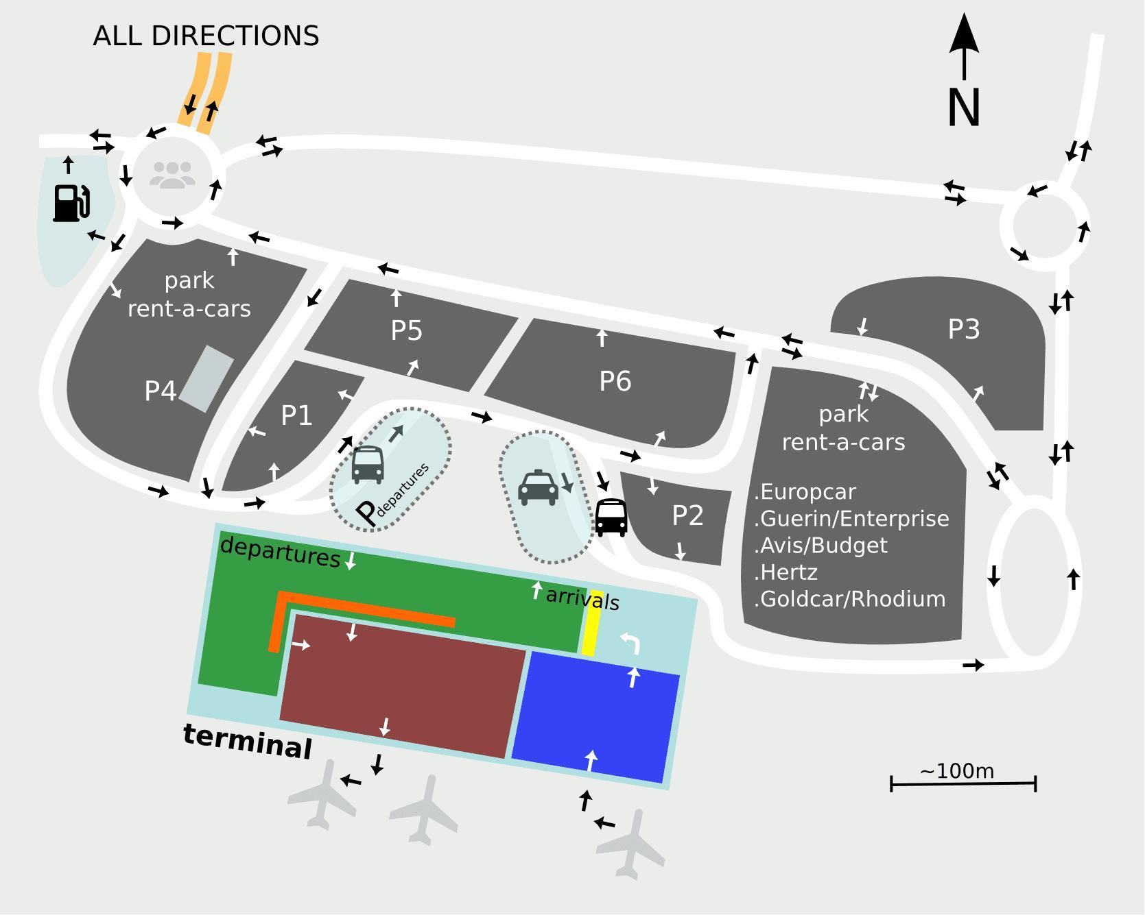 Karte Anzeigen.Der Flughafen Sevilla Anzeigen Sevilla Airport Karte