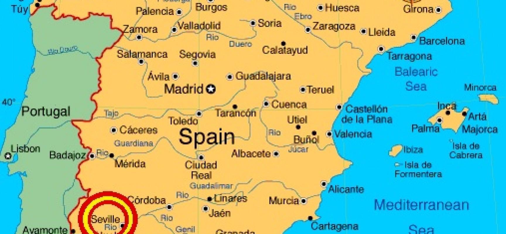 Andalusien Karte Spanien.Karte Von Spanien Zeigt Seville Karte Von Spanien Zeigt Sevilla
