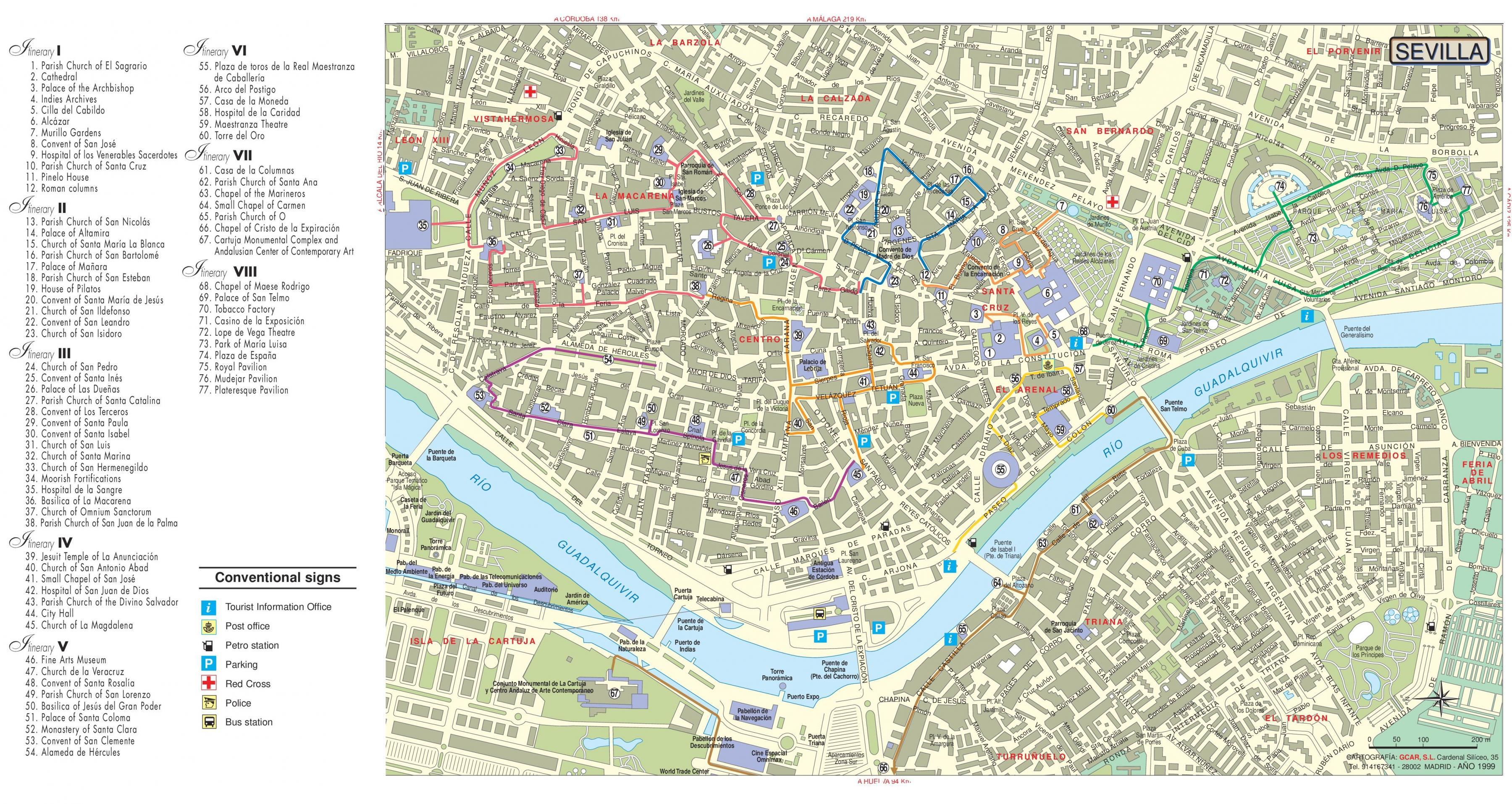 Sevilla-tourist-information-Karte - Sevilla Besichtigung Karte ...