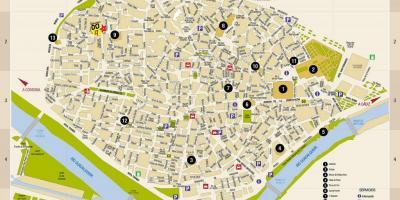 Sevilla-map - Karten von Sevilla (Andalusien - Spanien)